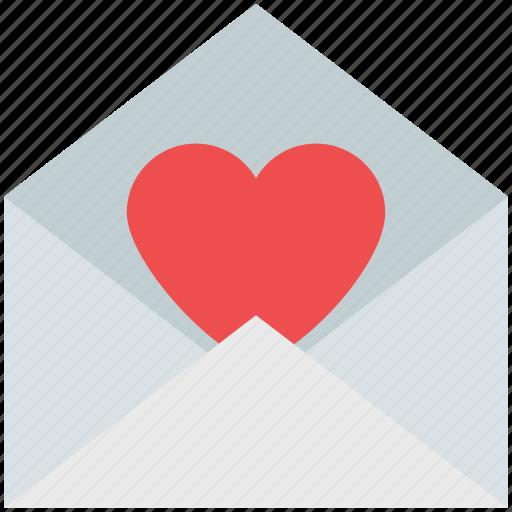 envelope, envelope with heart, heart, letter, love letter, valentine card icon