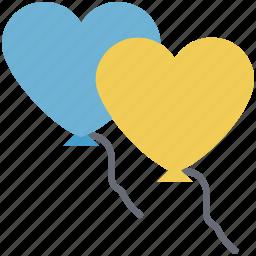 heart, hearts balloon, love, love sign, valentine icon