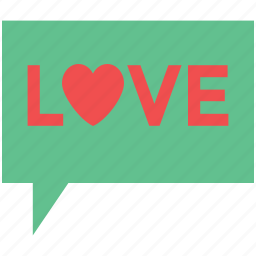 chat box, love chat, love speech bubble, lovers chat, online love icon