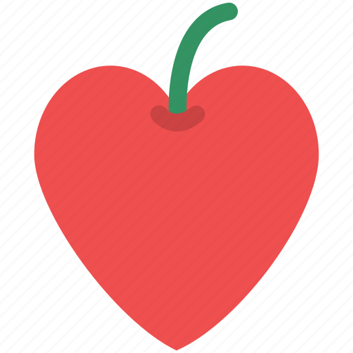 fruit, heart apple, heart fruit, heart shape apple, love concept icon