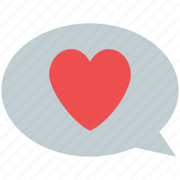 chat bubble, heart speech, love chat, online love, speech bubble icon