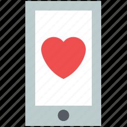 heart, love, love message, love notification, mobile, romance icon