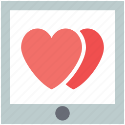 internet, love chat, love message, online romance, screen hearts icon