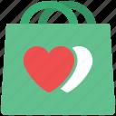 love shopping, shopping, shopping bag, valentine shopping icon