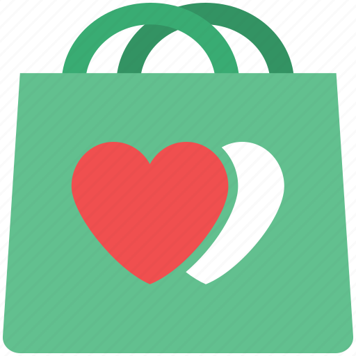 love shopping, shopping, shopping bag, valentine shopping icon