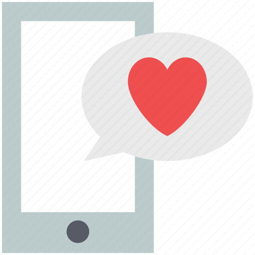 heart speech bubble, love sign, lovers communications, lovers massaging, lovers messages, tablet icon