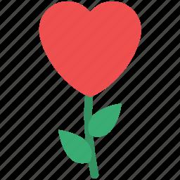creative flower, flower, heart flower, love concept, love sign, love symbol icon