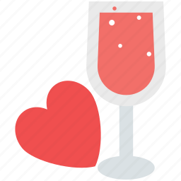 drink, glass, love, love concept, love drink, romantic, valentine's day icon