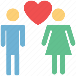 affection, couple, love concept, lovers, male and female, wed icon