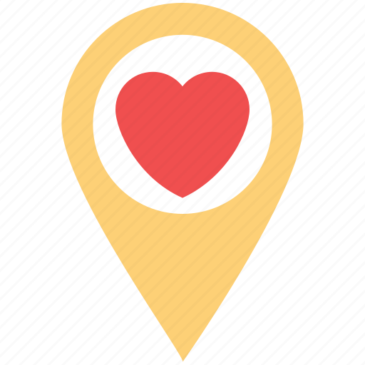 favourite place, heart locator, heart pin, love pin, love sign, love symbol icon