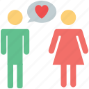 chatting, couple chatting, lovers, lovers chat, lovers chatting, lovers conversation icon