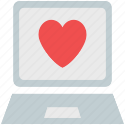 heart on laptop, heart wallpaper, laptop, love greeting, love greetings, love message icon