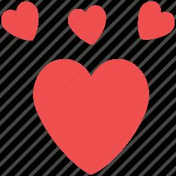 hearts, hearts design, like, love, love sign, love symbol icon