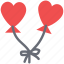 couple kites, flying, heart balloons, heart kites, love concept, tie heart kites icon