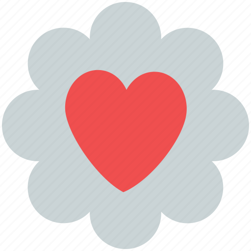 hart flower, heart, heart in flower, love concept, love sign, love symbol icon