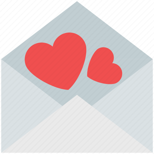 envelope, hearts, love communication, love letter, love mail, love message icon