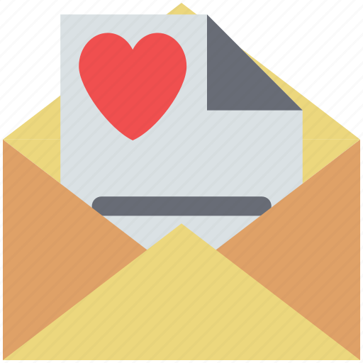 love communication, love letter, love mail, love message, valentine greetings, valentine letter icon