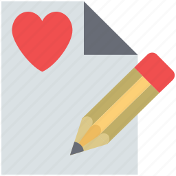 letter, letter writing, love letter writing, love message love letter, pen icon