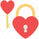 lock your love, heart lock, love lock, love key, heart padlock icon