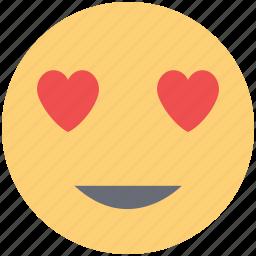 happy emoticons, happy face, in love smiley, love sign, love symbol, smiley icon