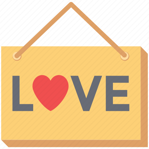 hanging label, hanging signboard, info, love signboard, signboard, valentine's icon