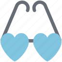 eyeglasses, eyeshade, glasses, goggles, heart glasses, love glasses icon