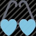 eyeglasses, eyeshade, glasses, goggles, heart glasses, love glasses