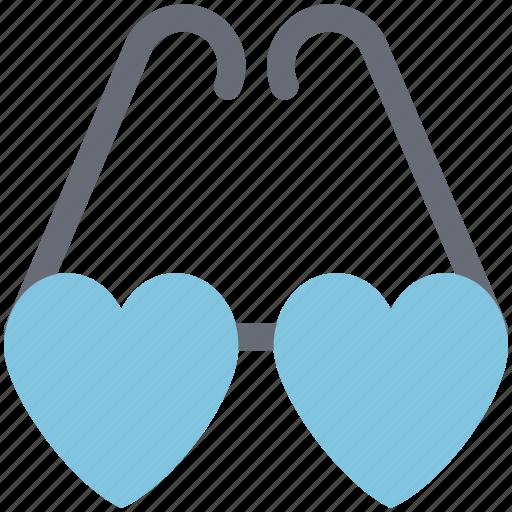 eyeglasses, eyeshade, glasses, goggles, heart glasses, love glasses icon