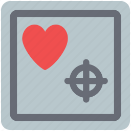 heart, heart with target, love sign, love symbol icon