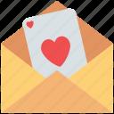 envelope, love letter, love message, valentine greeting, valentine letter icon