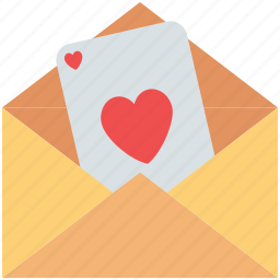 envelope, love letter, love message, valentine greeting, valentine letter icon