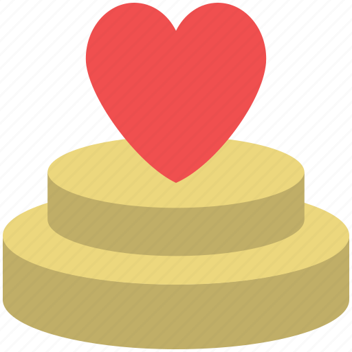 cake, cake with hearts, dessert, hearts on cake, valentine cake icon