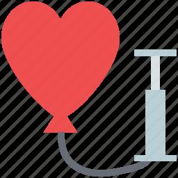 heart balloon, heart pump, love symbol, loving, romance, soul icon
