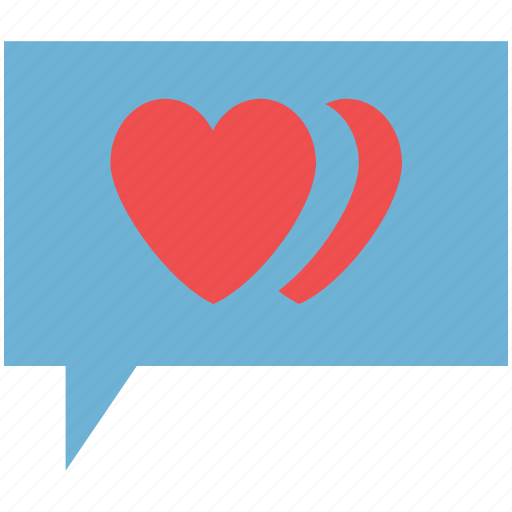 bubble, chat, love chat, loving, romance chat, romance talking icon