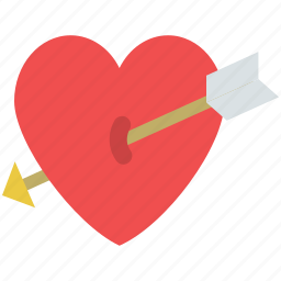 arrow on heart, broke, heart break, lovely, rupture icon