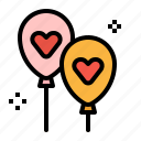 balloon, love, newyear, romance, valentines icon