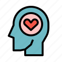 brain, head, love, process, wellness icon