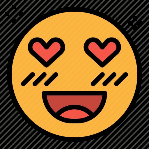 Emoji, heart, love, romance, valentines icon - Download on Iconfinder