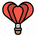 heart, lovely, romantic, transport, valentines icon