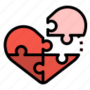 day, jigsaw, love, puzzle, valentines icon