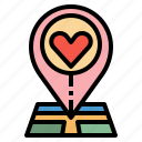 gps, heart, location, love, map, maps