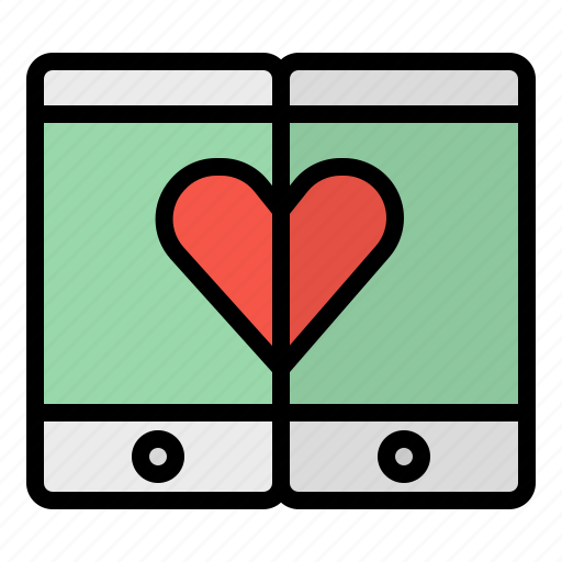 Cellphone, heart, mobile, phone, smartphone icon - Download on Iconfinder