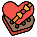 gift, heart, love, romance, snack icon