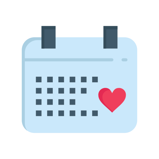 Calender, day, love, valentine, valentines, wedding icon - Free download
