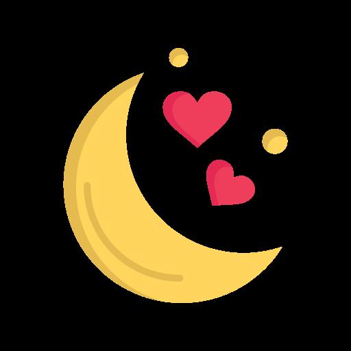 day, love, moon, night, romantic, valentine, valentines icon