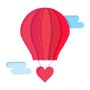 baloon, day, flying, heart, hot, love, valentine, valentines