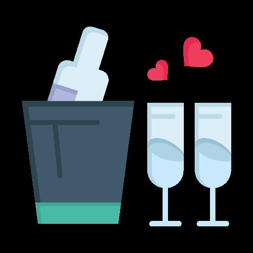 bottle, day, glass, love, valentine, valentines, wedding icon