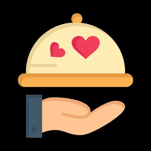 day, dish, heart, love, valentine, valentines, wedding icon