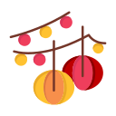 balls, day, decoration, hanging, lantern, love, valentine, valentines icon