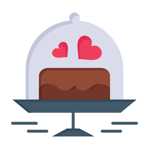 cake, day, love, plate, valentine, valentines, wedding icon
